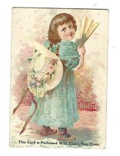 Trade Card Elick's Hair Tonic FJ Elick York PA For Sale By Barbers Grows Hair