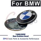 74MM BMW Bonnet Book Trunk Badge Emblem Hook Logo Decal E30 E36 E46 3 5 7 Series