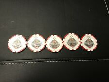 2017 Memorial Cup Poker Chip Set of 5 Windsor Spitfires OHL CHL QMJHL WHL
