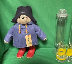 VINTAGE TEDDY BEAR GABRIELLE 1972 PADDINGTON ENGLAND RED DUNLOP BOOTS Lost bear?