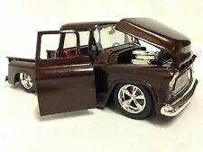 1955 Chevrolet Stepside Pickup Truck,1:24 Diecast, Collectible, Jada Toys,Brown