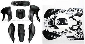 Plastic Fairing Sticker Kit for Kawasaki KLX 110 KX 65 Suzuki DRZ 110 RM65 Bike