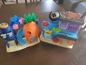 Imaginext Spongebob Squarepants house and Bikini Bottom Police Station Jail