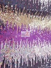 MOON SHADOW SEQUIN FABRIC - Multi-Color Fuchsia - BY YARD DRESS APPAREL MERMAID