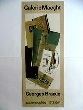 BRAQUE CHAR Affiche originale lithographie 1963 Cubisme Papiers collés art