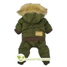 Fitwarm Waterproof Thick Dog Clothes Snowsuit Pet Coat Winter Jumpsuit Hoodies