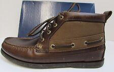 Sperry Top Sider Size 9 Brown Leather Ankle Boots New Mens Shoes