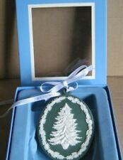 Wedgwood Jasperware Spruce Green Christmas Tree Decoration