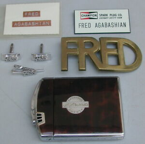 Old Orig 7 Piece Collection Fred Agabashian Indy 500 Memorabilia 1950 Very Rare