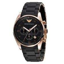 OROLOGIO ARMANI AR5906 DONNA NUOVO NERO WATCH CHRONO BLACK WOMAN