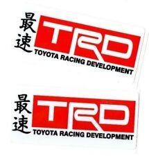 Toyota Racing Development TRD Decals *Japan Car Truck Window Sticker Domo JDM