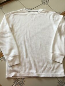 Boys Faded Glory white long sleeved shirt - L (10-12)