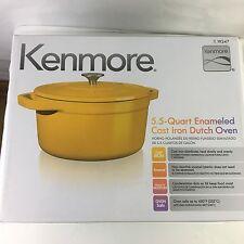 kenmore iron. nib kenmore 5.5 quart enameled cast iron dutch oven with lid yellow ka25k