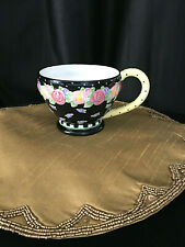 Mary Engelbreit Handled Large Cup Me Ink 2000 Colector Black Bold Floral