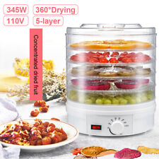 5 Trays Food Dehydrator Fruit Vegetable Meat Dryer Kitchen Drying Machine Home