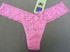 NWT Hanky Panky Womens Lace Low Rise Thong In Pink Lady