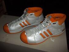 Men's 2008 Adidas TS PRO MODEL Basketball Shoes SZ 17 US Orange & White