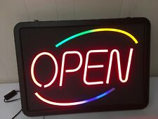 Newon Lighted Open Sign with 3 Color Wave model 3605