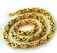 NEW 5½ mm PVD BONDED 18k GOLD Men's & Woman's BYZANTINE CHAIN Necklace - 3 SIZES