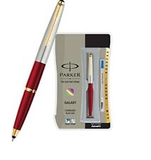 Parker Galaxy GT Roller Ball Rollerball Pen, Red Body, Blue Ink, Vector Frontier