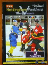 New listing Nottingham Panthers v Tilburg Trappers ice hockey programme (Aladdin Cup 2010)