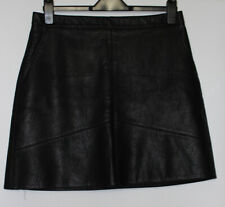 Zara Black Faux Leather Skirt Size L
