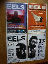Eels live music memorabilia - Scottish tour concert show gig posters x 4