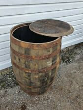 More details for lid removed old reclaimed used rustic whiskey / scotch whisky oak wooden barrel
