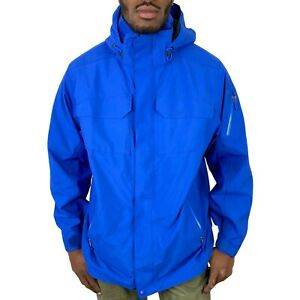 Marmot Membrain Blue Hooded Jacket Mens Size Large