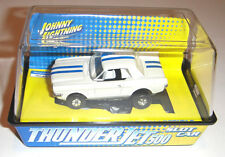JL JOHNNY LIGHTNING T-JET SLOT CAR HO SCALE TUFF ONES FORD MUSTANG COUPE WHITE