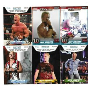 TNA BORN IN HENDERSONVILLE TENNESSEE 6 JEFF JARRETT WRESTLING CARDS A NICE MIX