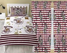 "Harry Potter 'Muggles' Crest Single Duvet & Matching 72"" Drop Curtains Set"