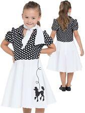 Mädchen Pudel Kostüm Kinder 50s 60s Rock n Roll Jahrzehnte Outfit Alter