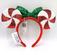 Candy Cane Cutie Lollipop Disney Parks Sequins Minnie Ears Headband