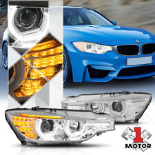 Chrome Dual [3D HALO] Projector Headlight LED DRL for 12-16 BMW F30/F31 3-Series