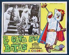 EL GATO CON BOTAS EL ENANO SANTANON N MINT USA PRINTED LOBBY CARD PHOTO 1960