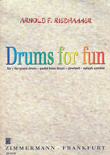 Drums for fun für snare drum, pedal bass drum, cowbell, splash cymbal
