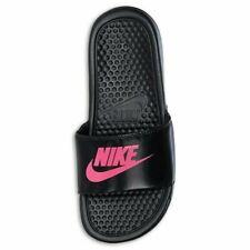Nike Girls Benassi Slides Black/ Pink Slides Little Girls Size 11