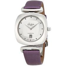 Glashutte Pavonina Galvanized Silver Dial Ladies Watch 1-03-01-15-02-34