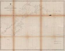 GULF OF ALASKA COAST CHART. Anchorage. Mt St Elias. Icy Bay. USCGS 1871 map