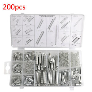 200 x SPRING SETSPRINGS ZINC IN TRAY EXTENDED COMPRESSION EXPANSION TENSION