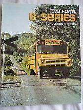 Ford USA Folleto de chasis de serie B Autobús Escolar 1973