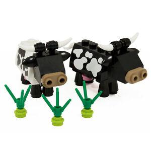 Cows   Farm Animals black & white cow   Custom kit made with real LEGO Bricks