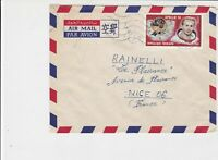 republique togolaise 1971 apollo14 space airmail stamps cover ref 20494