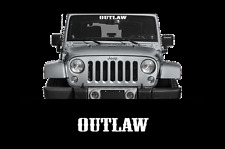 "OUTLAW * Windshield Banner Decal 23"" Truck Car Funny Diesel 4X4 1500 Mud Country"