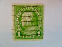 Lot of one $.01 Green Franklin Commonwealth Power Co Perfin - See Description