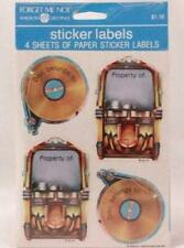 American Greetings Sticker Labels. 4 Sheets Per Sealed Package. Music