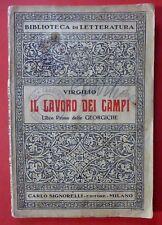 VIRGILIO - LAVORO DEI CAMPI - CON BOLLO CENSURA DI GUERRA - 1940