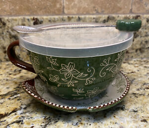 Temptations by Tara Soup Bowl, Saucer, Lid, Spoon Floral Lace PPP-SQ-932311