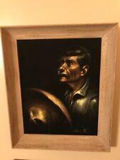 RARE MANUEL ACOSTA ORIGINAL TEXAS/MEXICAN PORTRAIT! CIRCA 1965 SIGNED Oil!